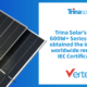 Trina Solar's Vertex 600W+ Series Modules Obtained the Industry's Worldwide Recognized IEC Certifications