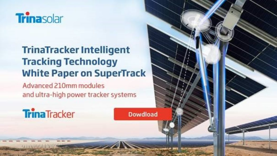 Trina Solar Releases TrinaTracker Intelligent Algorithm White Paper:  Boosting Energy Gain by 3-8%